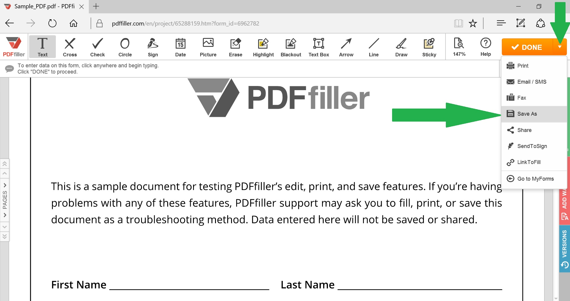 how to put files into pdf format
