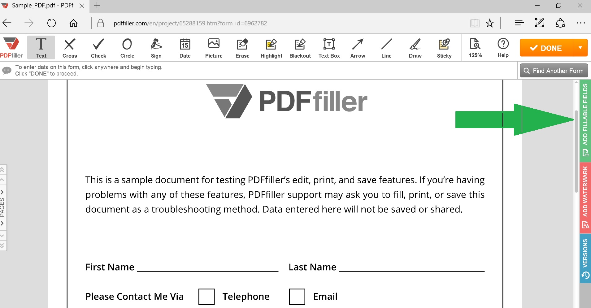 convert pdf to fillable form online make a pdf editable pdffiller