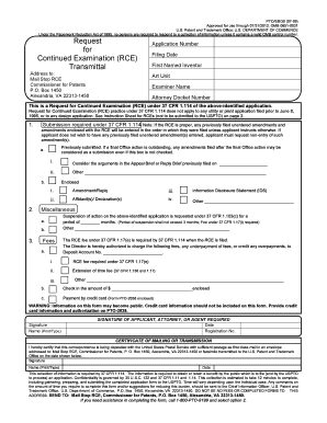 request for continued examination form