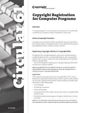 us copyrgith office online application for computer program