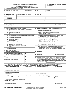 dd form 2278 example