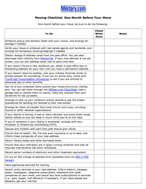 Travel fillable checklist form