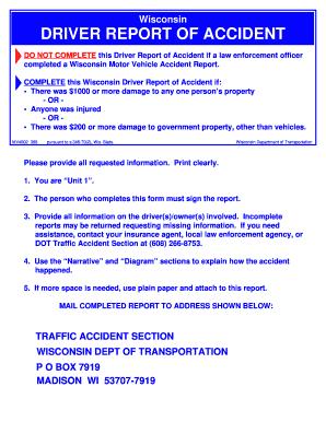Wisconsin dept of motor vehicle for Dmv motor vehicle report