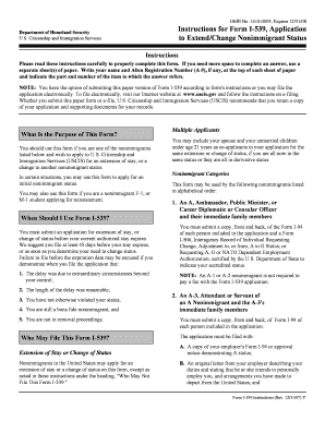 Form I-539 Templates - Fillable & Printable Samples for PDF, Word ...