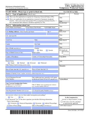 I 821 Pdf - Fill Online, Printable, Fillable, Blank | PDFfiller