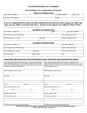 Arkansas Acknowledgment Of Paternity Form - Fill Online, Printable ...
