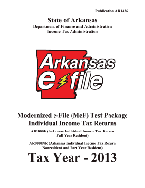 arkansas tax form ar1436