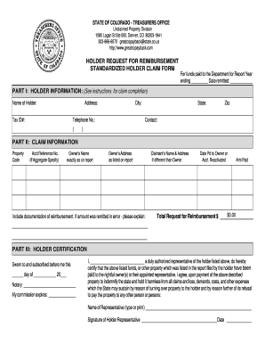 holder request for reimbursement new york form