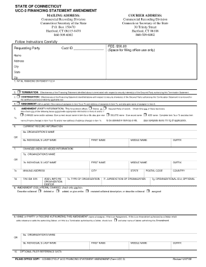 State Of Ct Ucc 3 Forms - Fill Online, Printable, Fillable, Blank ...