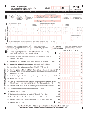 2016 Form CT DRS CT-1040NR/PY Fill Online, Printable, Fillable ...