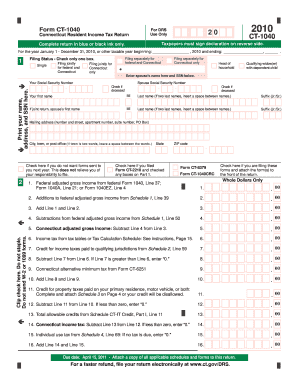 2010 Form CT DRS CT-1040 Fill Online, Printable, Fillable