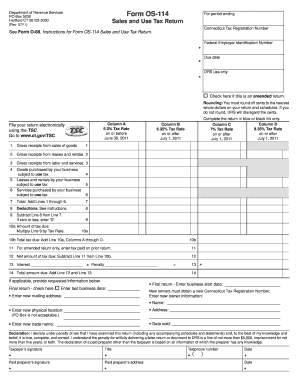 2011 Form CT DRS OS-114 Fill Online, Printable, Fillable, Blank ...