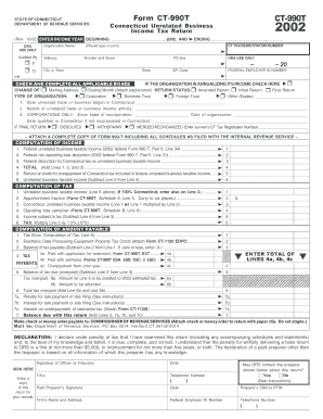 form ct 990t ext fill in form