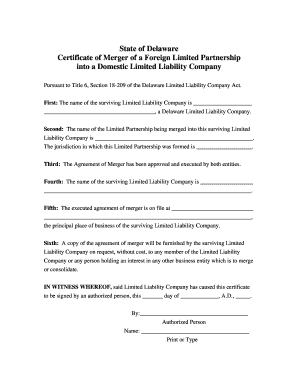 certificate of limited partnership delaware form