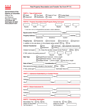 Dc Real Property Tax Forms