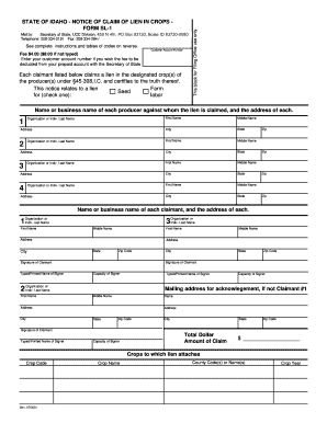 Idaho Claim Of Lien Form - Fill Online, Printable, Fillable, Blank ...
