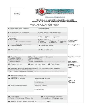 Turkey application fill online printable fillable blank pdffiller turkey application expocarfo Images