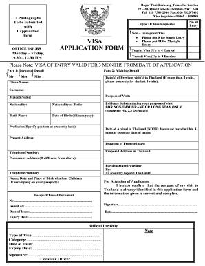 Thailand Visa Form Pdf Fill Online Printable Fillable Blank Pdffiller