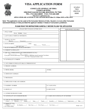 11102 Online Indian Visa Application Form For Desh on