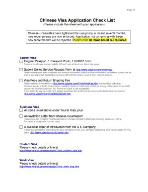 Fillable Online China Visa Fillable Form In Mumbai Fax Email Print Pdffiller