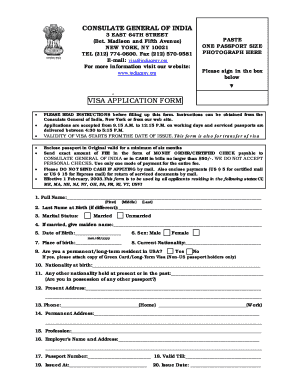 Passport application in india