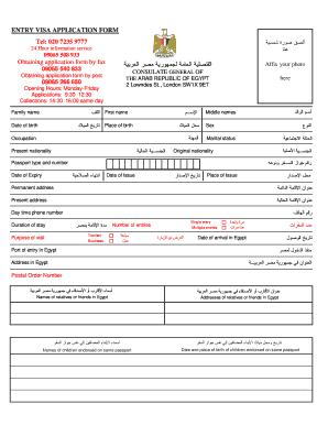 antrag visum egypt