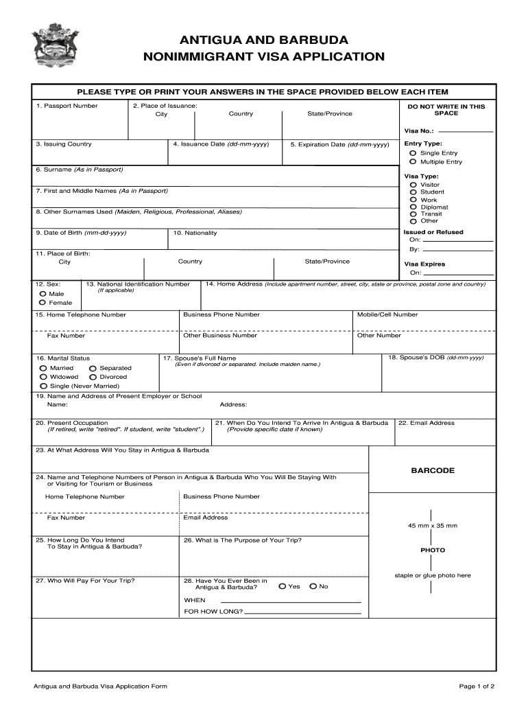 U S Immigration Visa Application Form Pdf Fill Online Printable Fillable Blank Pdffiller