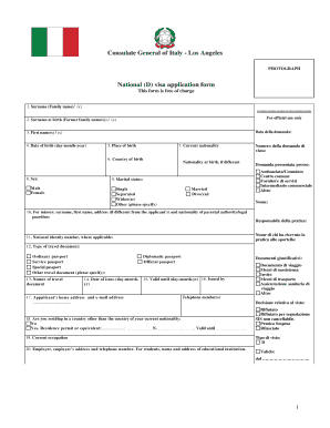 Italy Form Fill Online Printable Fillable Blank Pdffiller