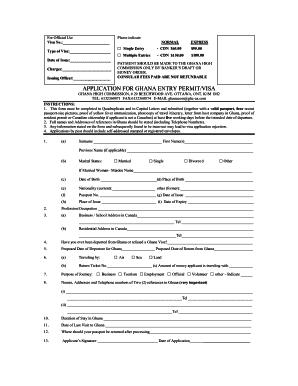 Visa Application, ghana, embassy