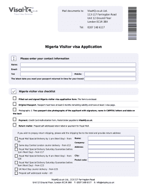 nigeria visa forms pictures