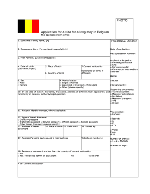 11631 Visa Application Form For Belgium From Nepal on
