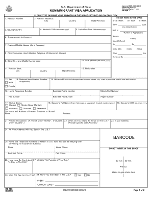 form ds 160 pdf Sample Of Ds 160 Form - Fill Online, Printable, Fillable, Blank ...