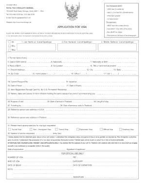 11803 Online Thailand Visa Application Form Desh on