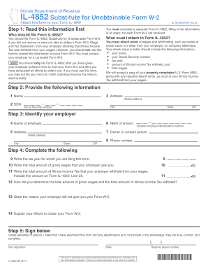 il 4852 form