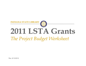 The Project Budget Worksheet - in