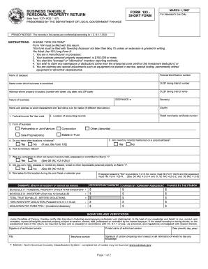 Form 103 Short - Fill Online, Printable, Fillable, Blank | PDFfiller