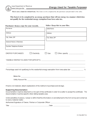 Iowa Sales Tax Exemption Certificate Fillable Form