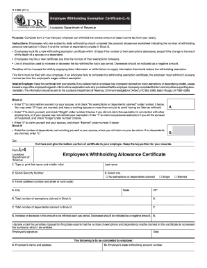 Louisiana Form L 4 - Fill Online, Printable, Fillable, Blank ...
