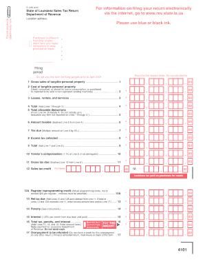 Louisiana Department Of Revenue Sales Tax 1029 - Fill Online ...