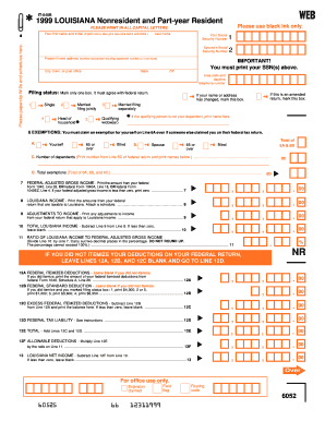 Louisiana State Income Tax Forms In Black Or Blue Ink - Fill ...