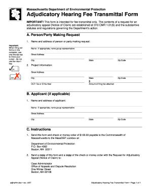 Mass Dep Hearing Transmittal Form - Fill Online, Printable ...