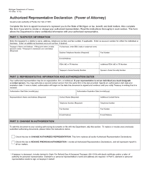 Michigan Power Attorney Form 151 Rev 8 09 - Fill Online, Printable ...