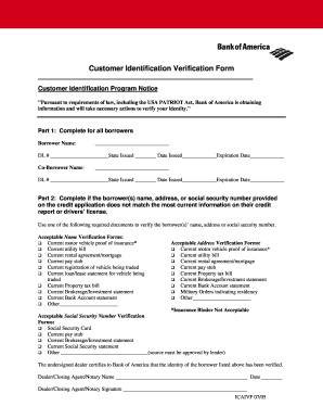Bank Customer Information Form - Fill Online, Printable, Fillable ...