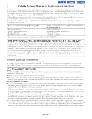 fidelity change of account registration form to Download