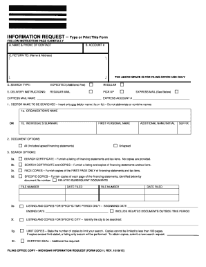Fillable Online michigan UCC11 Michigan Search Request - michigan ...