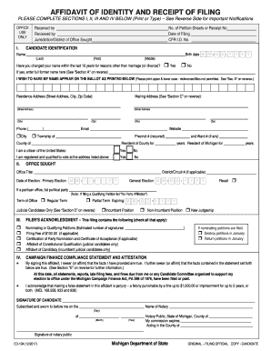affidavit of identity form Templates - Fillable & Printable ...