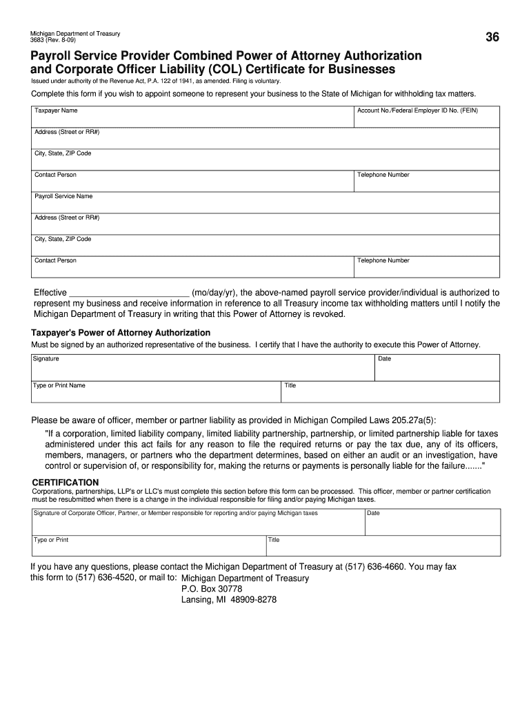 Michigan 3683 - Fill Online, Printable, Fillable, Blank