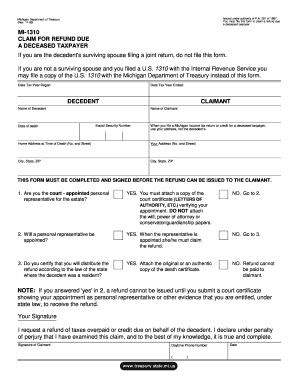 Michigan 1310 Form - Fill Online, Printable, Fillable, Blank ...