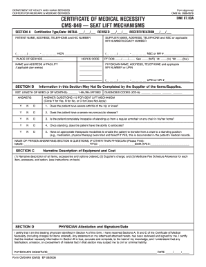 Medicare Lift Chair Form - Fill Online, Printable, Fillable, Blank ...