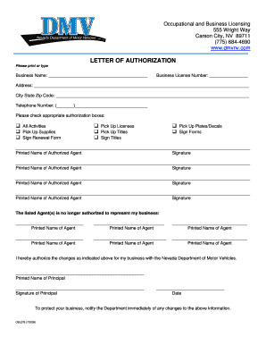 letter of authorization for dmv authorization letter sample to act on behalf forms and 11861